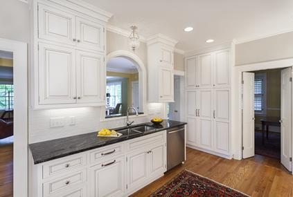 Wolfe Range, traditional cabinetry with inset doors and exposed hinges in Charlotte, NC.